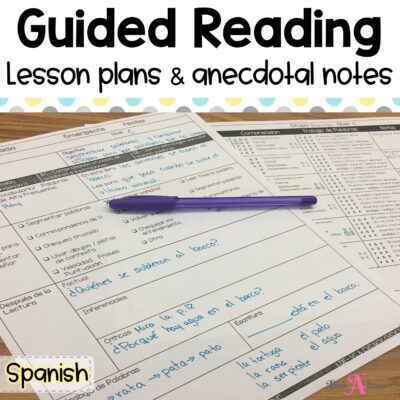 Guided Reading template lesson plans in Spanish