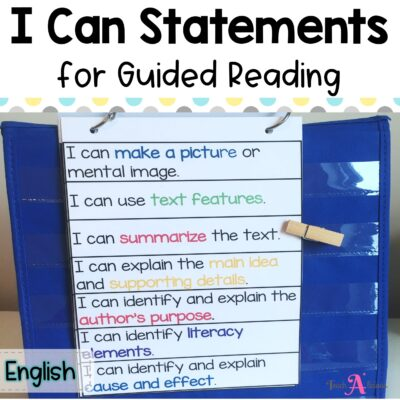 I can statements for Guided Reading