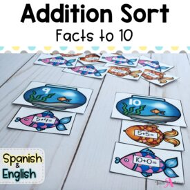 Cover Addition fact to 10 sort