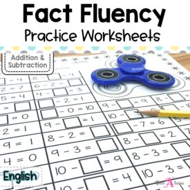 Cover Fluency Facts Spinner