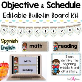 Cover Objectives y Schedule